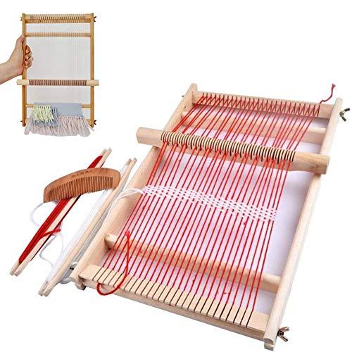 BangShou Métier à Tisser En Bois, Machine à Tricoter à la Main Bricolage,Kit de Métier Multi-Métier pour Débutants Et Enfants