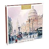 Caja de 12 tarjetas de Navidad artísticas (MG-XHTC238) – 12 tarjetas de Museos y Galerías – Londres en la nieve
