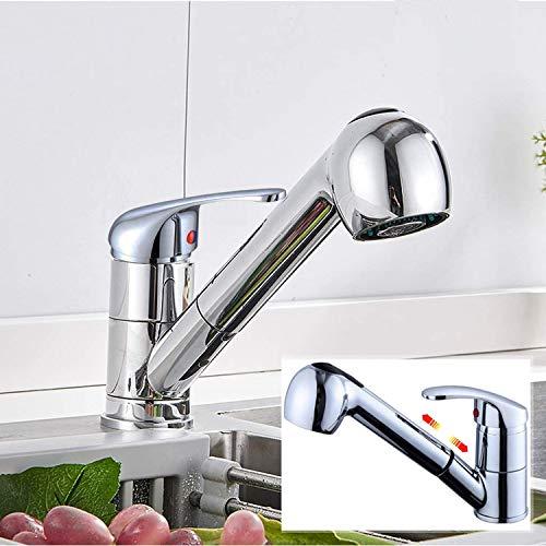 Küchenarmatur mit Herausziehbare Spülbrause, Einhand-Spültischbatterie - 2 Strahlarten Geschirrbrause, drehbarer 360°-Wasserhahn für die Küche