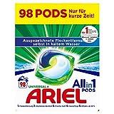 Ariel Waschmittel Pods All-in-1, 98 Waschladungen (2 x 49) Universal Frischer Wäscheduft ...
