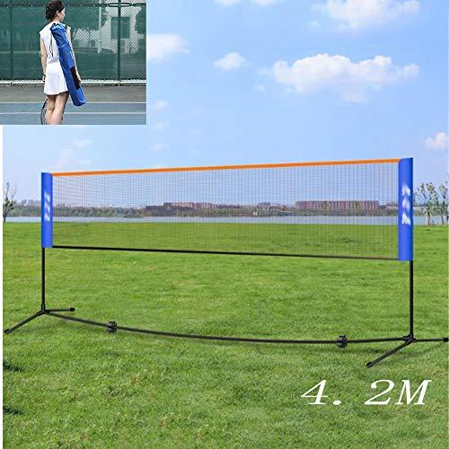 HHORD 4.2 Tragbare Badminton Net Set - Net Für Tennis, Fußball Tennis, Pickleball, Kinder Volleyball - Easy Setup Nylon Sports Net Mit Polen