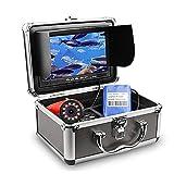 釣り用魚のファインダー水中釣りカメラHD 1280 * 720個のScreen12pcs白色LED +個入り赤外線ランプカメラ,黒