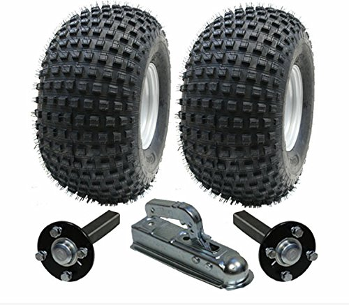 ATV Kit rimorchio - rimorchio Quad - ruote + hub / stub + intoppo, 310kg, i pneumatici sono 22x11.00-8 4ply P323 Wanda Knobby