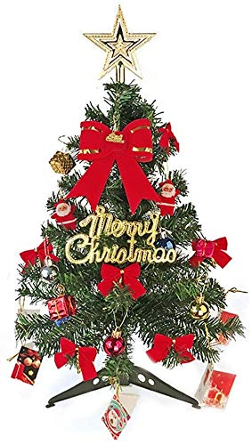 YUXO Mini Christmas Tree Artificial Small Tabletop Christmas Decorations Tree for Home Office Shopping Bar Tabletop Ornament (Color : A, Size : 60cm(23.6inch))