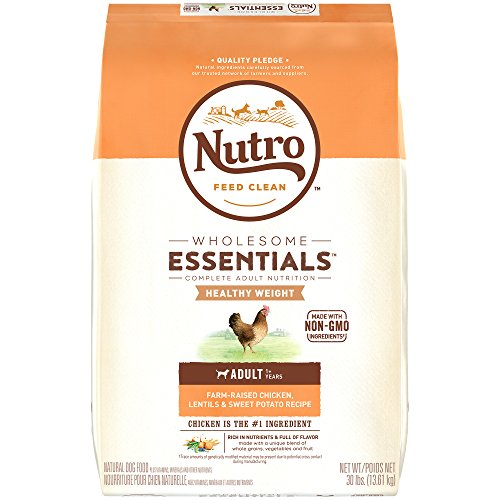 NUTRO WHOLESOME ESSENTIALS Healthy Weight Adult Natural Dry Dog Food for Weight Control Farm-Raised...