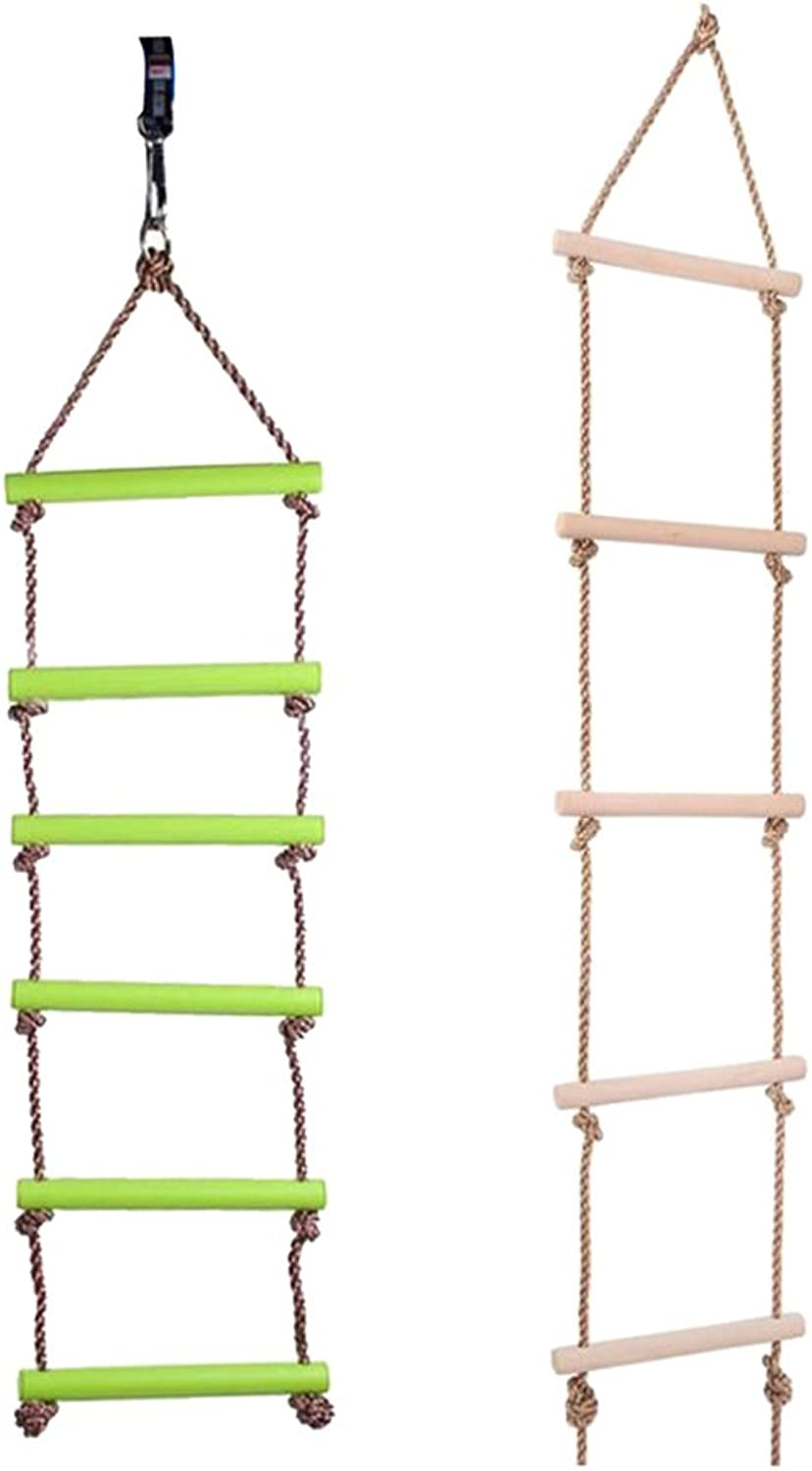 Homyl 2 Pcs 5 Rungs and 6 Rungs Rope Climbing Ladder Play Swing Set Kids Indoor & Outdoor Sports Activity Game Toy