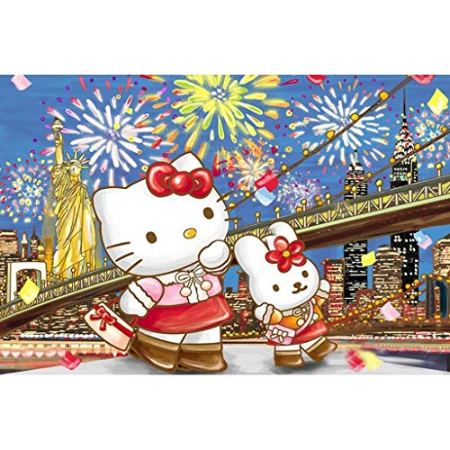 Lfixhssf Anime Puzzle Hellokitty Ciao Kitty, 500/1000/1500 Compresse - Partition Lfixhssf (Colore : B, Dimensione : 500p)