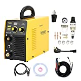 Plasma Cutter, Dual Voltage 115/230V 40A plasma cutting machine, Inverter Metal Plasma Cutter Max Cutting Thickness 10mm (HYC45D 115/230V)