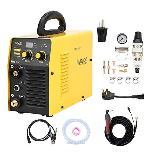 Plasma Cutter, Dual Voltage 115/230V 40A plasma cutting machine, Inverter Metal Plasma Cutter Max Cutting Thickness 10mm (HYC45D 115/230V)
