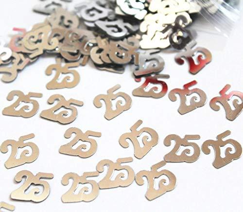 Geschenken 4 Alle gelegenheden Beperkte SHATCHI-160 14g 25e Zilver Verjaardag Glitz Tafel Confetti Sprinkles Decoraties