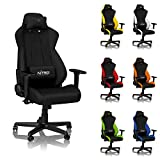 NITRO CONCEPTS S300 Gaming Chair - Stealth Black - Office Chair - Ergonomic - Cloth Cover - Up to...