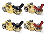 WindyNation 2 Pairs Brass Marine Grade Battery Terminal Top Post for Boat Car RV...