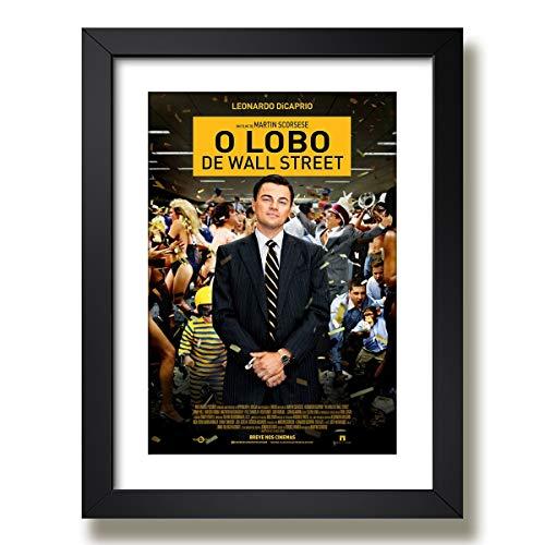 Quadro Lobo Wall Street Filme Cinema Serie Decorativo Quarto Paspatur Pronto para Pendurar