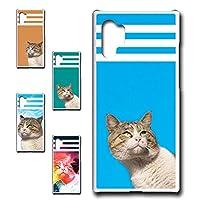 Galaxy Note10+ 専用 スマホケース ハードケース カバー 猫柄 ネコ ひなたぼっこ中 【デザインB/オレンジ】 橙色 TK-630B ギャラクシー ノート テン プラス