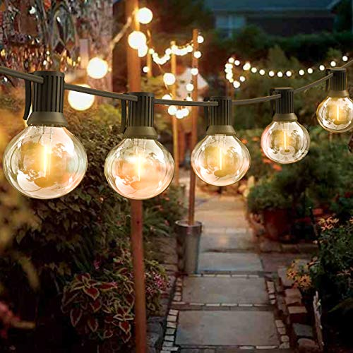 String Lights with 28pcs Edison Light Bulbs, Epicflare 32FT Clear Globe Patio Lights Outdoor Waterproof for Backyard Porch Balcony Indoor/Outdoor Commercial Christmas Decoration