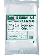 TRUSCO(トラスコ) 厚手ポリ袋 縦400×横300×t0.1 透明 100枚入 B-3040