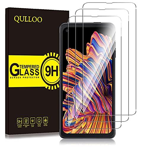 QULLOO Panzerglas für Samsung Galaxy XCover Pro, 9H Hartglas Schutzfolie HD Bildschirmschutzfolie Anti-Kratzen Panzerglasfolie Handy Glas Folie für Samsung Galaxy XCover Pro [3 Stück]