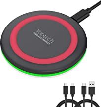 Yootech Wireless Charger,Qi-Certified 10W Max Fast Wireless Charging Pad Compatible with iPhone 11/11 Pro/11 Pro Max/XS MAX/XR/XS/X/8, Samsung Galaxy Note 10/S10/S9/S8,New AirPods Pro(No AC Adapter)