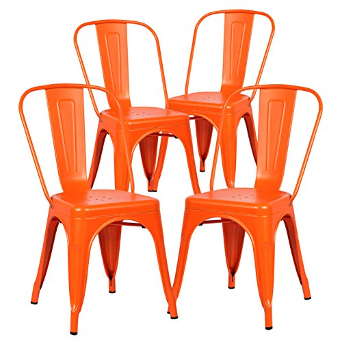 Poly and Bark Trattoria Side Chair in Orange (Set of 4)