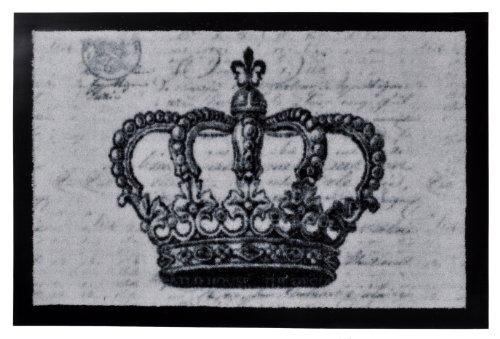 Fußmatte Schmutzfangmatte Crown grau 40x60 cm | 101311, Größe:40 cm x 60 cm