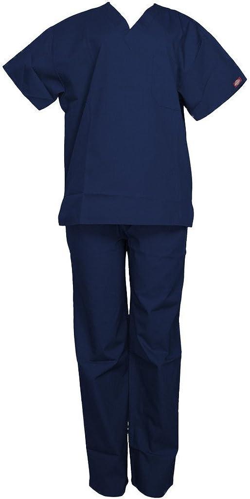 Dickies Camiseta unisex con cuello en V y pantalones con cordón