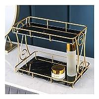 バスルームシェルフ、家具シャワーアクセサリー2層大容量ストレージ、2トレイ、3サイズで簡単に組み立て可能