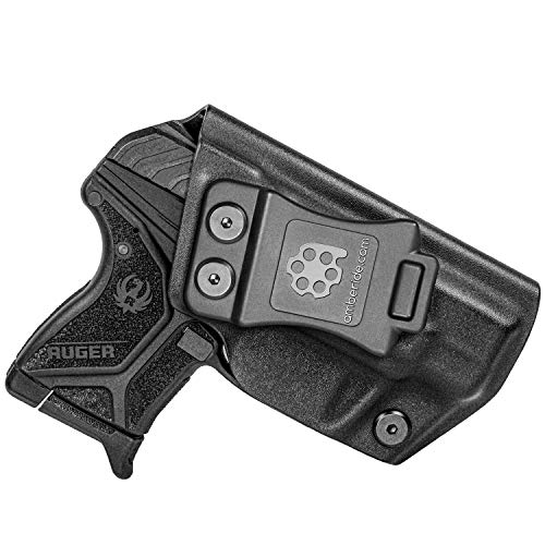 Amberide IWB Kydex Holster Compatible with Ruger LCP 2 & LCP II Pistol | Inside Waistband | Adjustable Cant | US KYDEX Made (Black, Right Hand Draw (IWB))