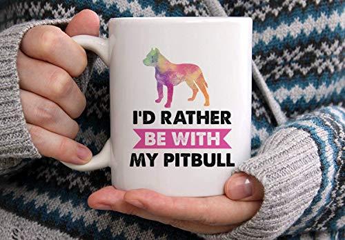 N\A Ich Bin eher mit Meinem Pitbull-Becher Hundebecher Pitbull-Becher Geschenk für Hundeliebhaber Hundebesitzer Geschenk Pitbull-Kaffeetasse Geschenk für Pitbull-Besitzer