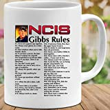 NCIS Movie Gibbs Rules Funny Cute Leroy Jethro Gibbs Mens Womens Coffee Mugs Tea Cups