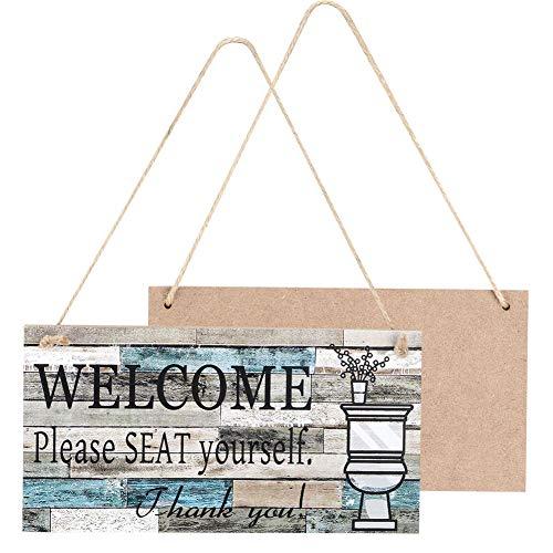 Holztür Schild, leichte Willkommensschild, schön für Freunde für Geschenk Haus Familie