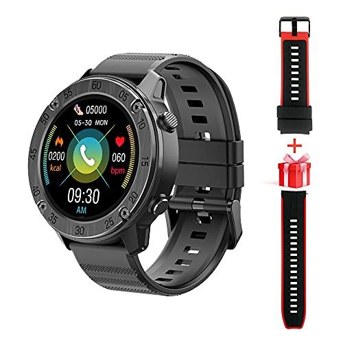 Blackview X5 Smartwatch Männer, Smart Armbanduhr Herren Fitness Tracker Smart Watch Rund Fitnessuhr Herren mit Pulsuhr Schrittzähler Damen Wearable 5ATM Wasserdicht Sportuhr iOS