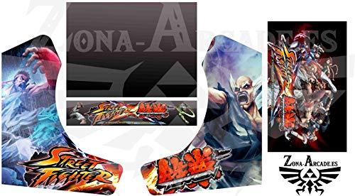 Zona Arcade Vinilo para recreativa bartop (Street Fighters VS Tekken)