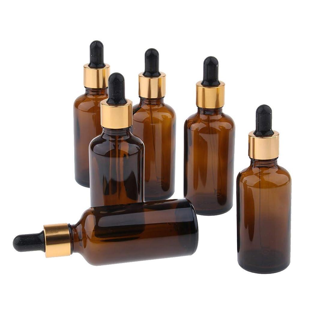 エキス結果として例Baoblaze 6個 精油瓶 遮光瓶 空瓶 ガラス 分け瓶 香水瓶 オイルボトル スポイト 詰め替え 旅行 マルチ容量選択 - 50ml