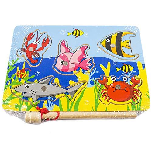 Magnetpuzzle, Magnetic Fishing Spiele, Puzzles Kinder Spielzeug, für Kinder Lustige Educational Geburtstags-Geschenke