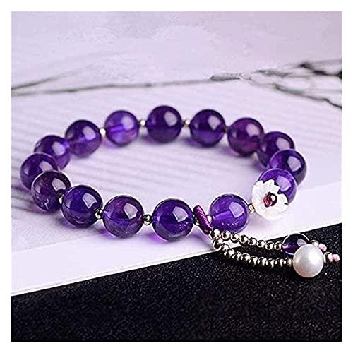Pulsera de feng shui Feng shui riqueza pulsera amatista cristal pulsera curación perla ornamento chakra perlas afortunado encantos atraen buena suerte dinero afortunado pulseras joya regalo para mujer