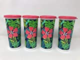 16oz TUMBLERS PURPLE SET OF FOUR With LIDS TUPPERWARE SPARE -- NEW -  YMR Supplies Inc