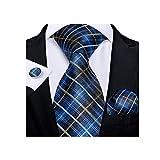 ZZABC MSLDXTPJ Classic Wide Men's Silk Lazs Set Business Body Tie Body Pocket Square Gemelos Regalos para Hombres (Color : B)