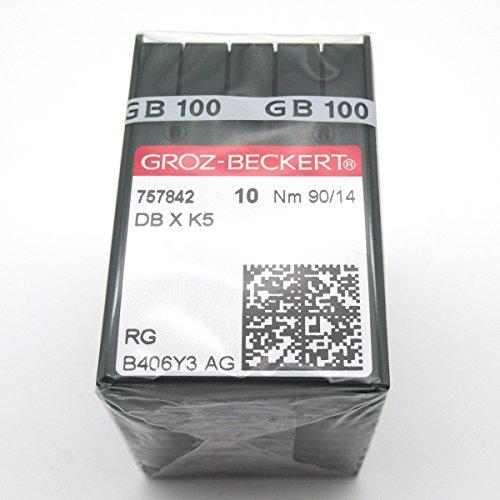 KUNPENG - 100 Groz Beckert DBXK5 Agujas de la máquina de coser del bordado ajuste paraTajima Barudan SWF (Size 65/9)