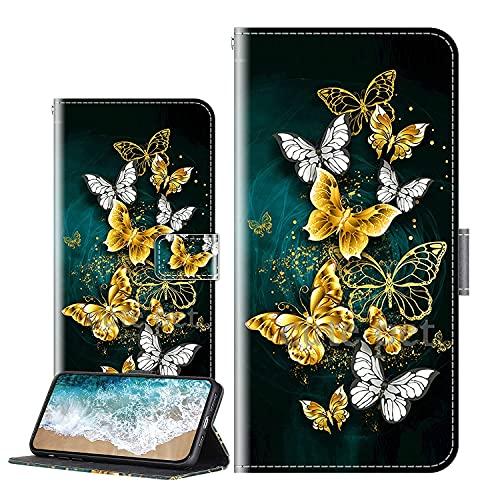 Cherfucome Handytasche für ZTE Axon 11 4G Hülle Leder Tasche Brieftasche Flip Hülle Cover ZTE Axon 11 4G Handyhülle Ledertasche Lederhülle Schutzhülle [C08*Löwe]