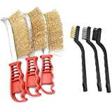 Spazzole Metalliche,DBAILY Acciaio Inox Ottone Nylon Spazzole Metalliche Set Professionali Per Pulizia Scorie Saldatura Ruggine Polvere