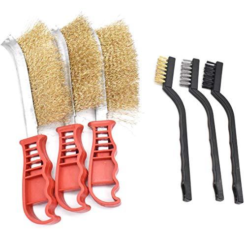 DBAILY 6Pcs Cepillos Metálicos Profesionales Cepillo Alambre Nylon Para Trabajo Cepillado Limpieza Eliminacion Pinturas Barnices