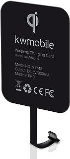 kwmobile Receptor de Carga inalámbrico Qi microUSB Universal para móvil - Cargador inalámbrico para Puerto microUSB de 5V para Smartphones