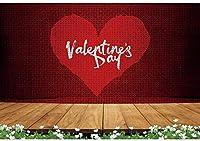 新しい2.1x1.5mVバレンタイン写真の背景バレンタインデーの愛のハートの背景バレンタインデートのための木製の床の花の写真