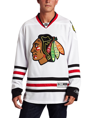 NHL Chicago Blackhawks Premier Jersey, White, Medium