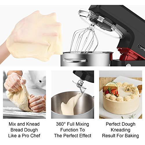 Homlee 1800W Professionnel Robot Pâtissier Petrin Haut-Puissance Robot Cuisine Multifonctions...