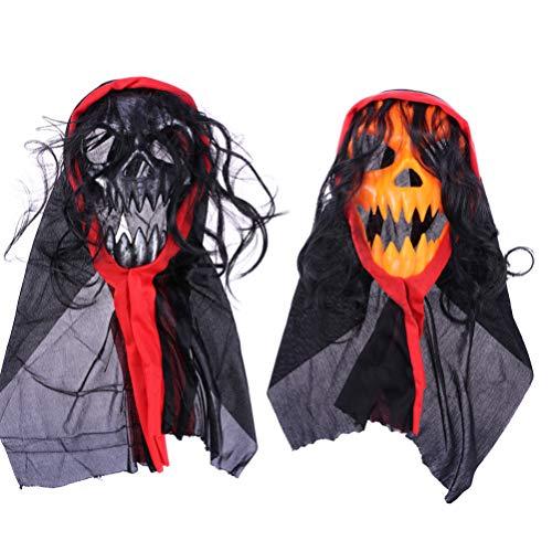 Artibetter - Set di 2 maschere orribili di Halloween, per Halloween e cosplay, orribile scherzo raccapricciante e spaventoso, per feste di Halloween