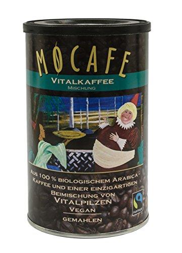 Vital Kaffee mit Vitalpilzen Reishi + Mandelpilz MOCAFE gemahlen 200 gr. - das Original mit der Originalrezeptur des Erfinders