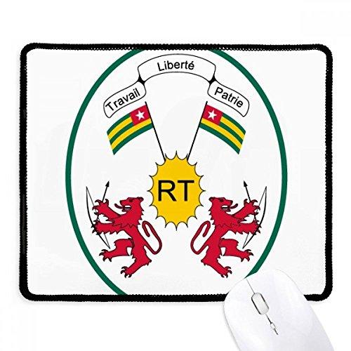 DIYthinker Togo Afrika National Emblem Griffige Mousepad Spiel Büro Schwarz Titched Kanten Geschenk