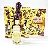 Deodorante Auto Chocolate and Vanilla, set di 2 pezzi Profumatore Auto, casa e ufficio aromaterapia, Fragranza Cioccolato e Vaniglia Profumo per Auto