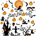 52-Piece Qingyun Halloween Window Clings Decals Stickers
